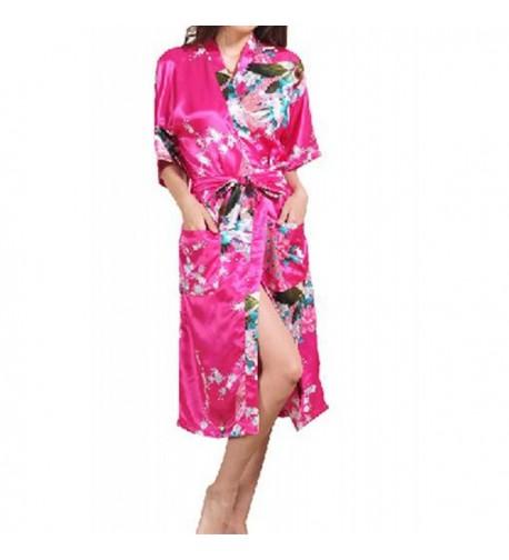 Artiwa Womens Fuchsia Kimono Pajamas