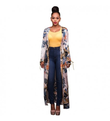 Womens Sleeve Floral Cardigan Outwear