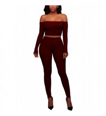 Womens Piece Outfits Shoulder Sleeve