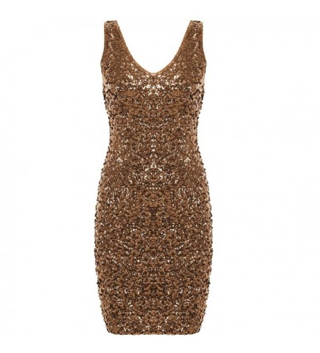 PrettyGuide Sequin Glitter Bodycon Stretchy
