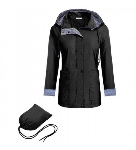 Hufcor Lightweight Waterproof Raincoat Black XL
