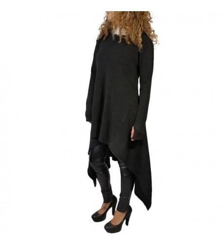 Annystore Womens Irregular Hoodies Sweatshirts