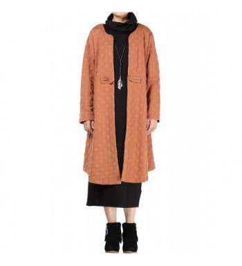Mordenmiss Womens Sleeve Button Trench