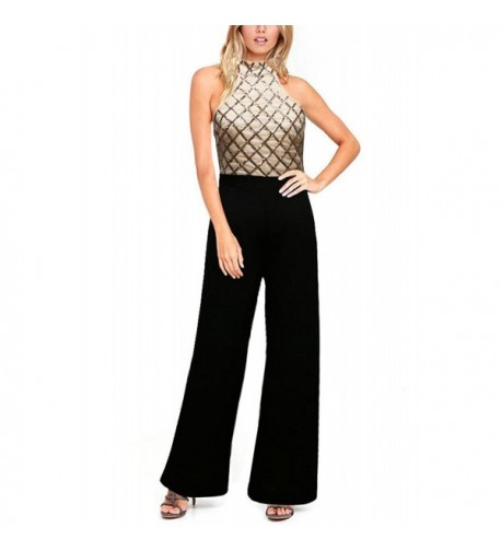 Remelon Womens Bodycon Jumpsuit Apricot