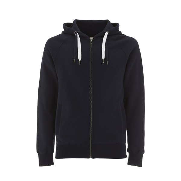 Navy Hoodie Men Zipper Sweatshirt