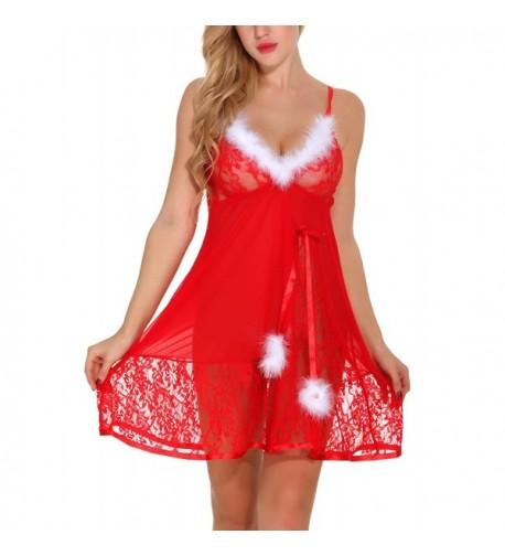 Organlick Lingerie Christmas Babydoll Sleepwear